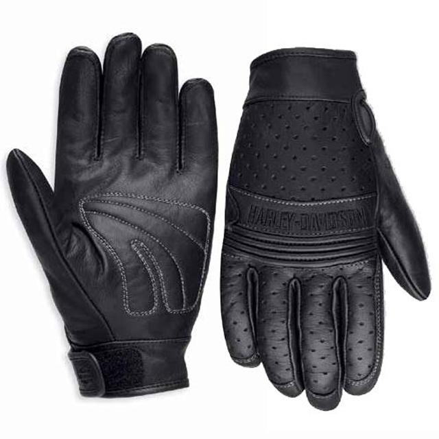 [30%OFF!!ラストワンセール]【純正品】HARLEY-DAVIDSON◆ハーレーダビッドソン・Avalon Perforated Leather Gloves◆メンズ アバロン パフォーテッド レザーグローブ・[牛革]パンチングレザーグローブ・フルフィンガー:98207-16VM [返品不可]