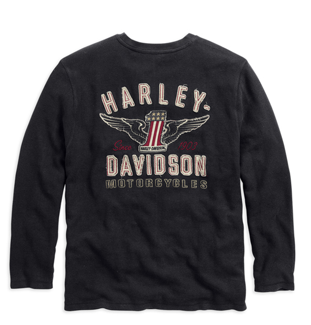HARLEY-DAVIDSON◆하레이다빗드손・#1 Long Sleeve Tee・#1 롱스리브티・론티:99028-15VM [ 532P19Mar16 ]