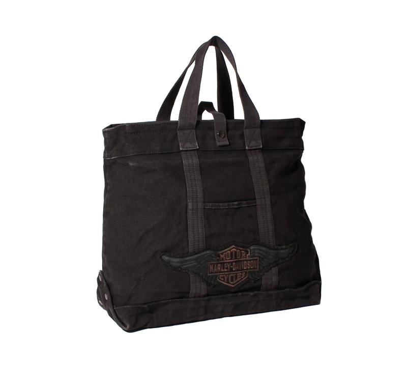 HARLEY-DAVIDSON【純正品】ハーレーダビッドソン・Canvas Tote Bag・キャンバス トートバッグ・たっぷり容量で丈夫、 肉厚でざっくりとしたバッグは普段使いや様々なシーンで活躍します:97824-19VW