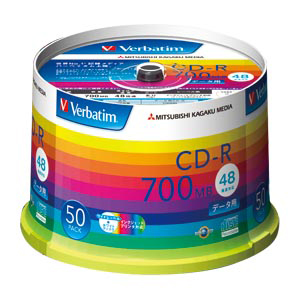 三菱ケミカルメディア PC DATA用 CD-R 48倍速対応