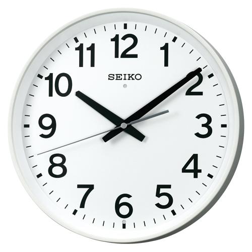 セイコー 電波クロック 壁掛け時計 (連続秒針) 学校) オフィス 掛時計(電波時計 掛け時計