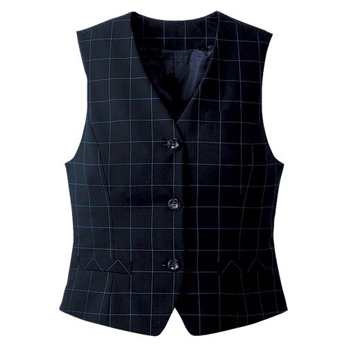 カンセン オフィスウェア ベスト サイズ:7号 着丈49.5cm,肩幅33cm,胸囲83cm(ネイビー)