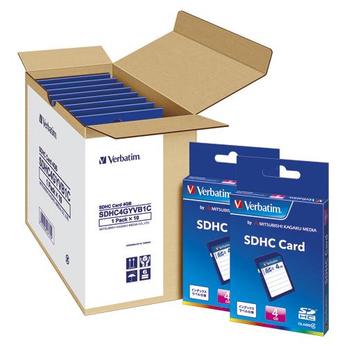 三菱ケミカルメディア Verbatim SDHCメモリーカード 10枚入 容量:4GB