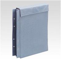 ¥5,000以上送料無料  ファイル 布製図面袋 面ファスナー式 規格:A4判大(ライトブルー)