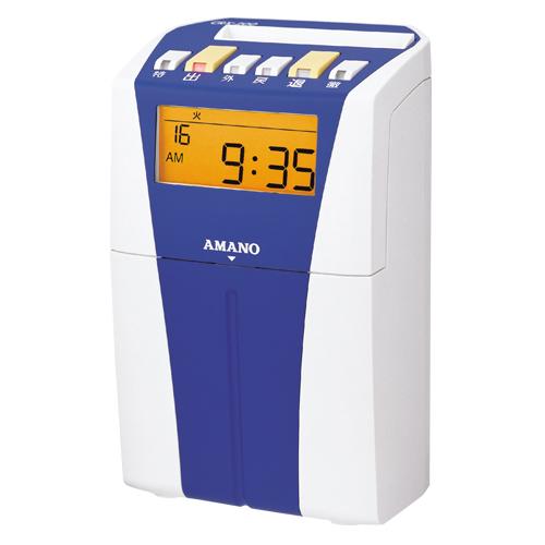 アマノ 電子タイムレコーダー 印字色:黒1色(ブルー)