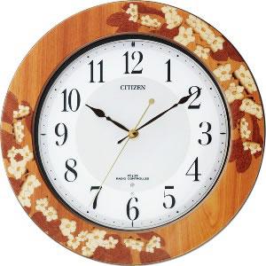 リズム時計 電波掛時計 プリュマージュM467