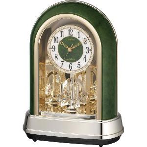 リズム時計 電波置時計 パルドリームR427(ミドリモクメ)