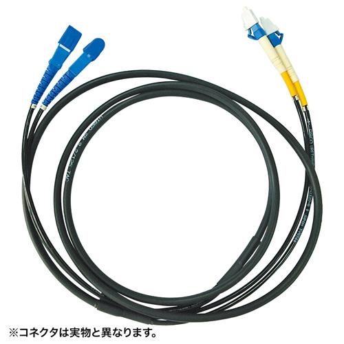 サンワサプライ タクティカル光ファイバケーブル 5m(ブラック)