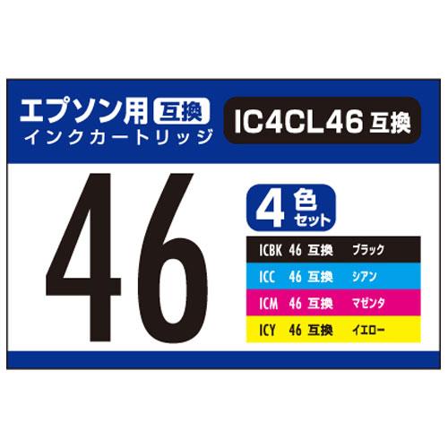 ¥5,000以上送料無料  ナカバヤシ 汎用インク エプソンIC46用4色パック