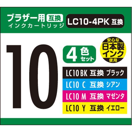 ¥5,000以上送料無料  ナカバヤシ 汎用インク ブラザー10用 4本パック(ブラック)