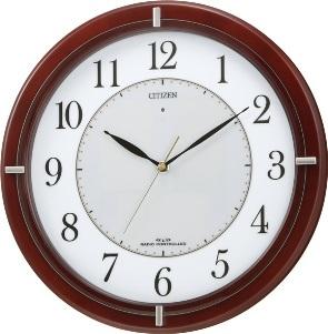 リズム時計 エコライフM768(茶色)