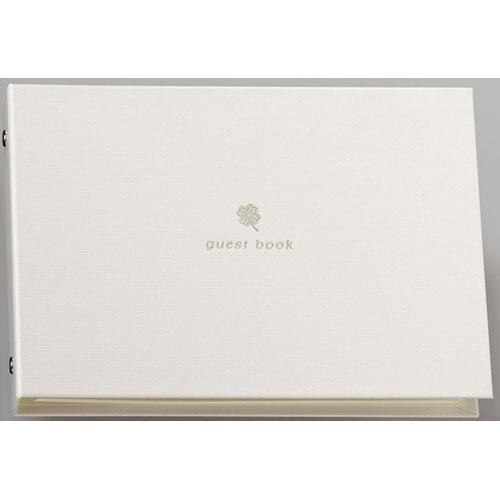 ¥5 000以上送料無料 マルアイ クローバー 海外並行輸入正規品 白 ゲストブック 男女兼用