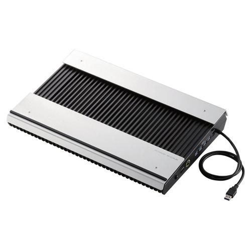 代引不可 エレコム 冷却台 置き台 アルミ 大型ファン2個 15.4-17インチ対応 USB3.0ポート×4ブラック(ブラック)