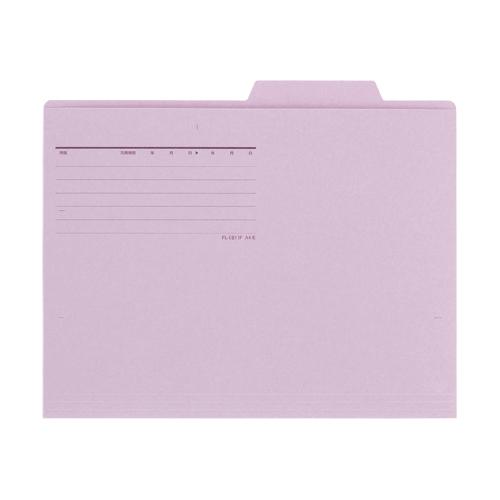 ¥5,000以上送料無料  プラス 個別フォルダーエコノミータイプ 〈薄型カード紙タイプ〉〈古紙パルプ配合率90%〉(バイオレット)