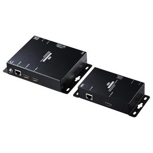 代引不可 サンワサプライ PoE対応HDMIエクステンダー(セットモデル)