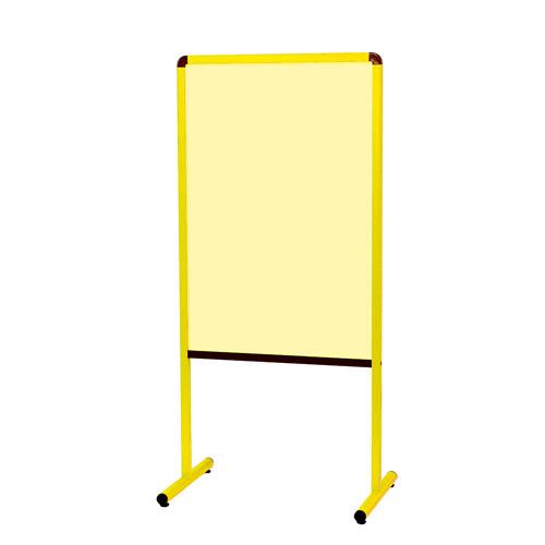 馬印 カラフル案内板(黄)両面スチールカラー