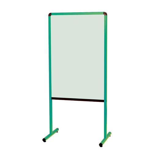 馬印 カラフル案内板(緑)両面スチールカラー