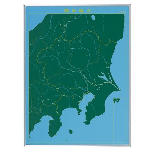 馬印 スチールグリーン 地図黒板 関東