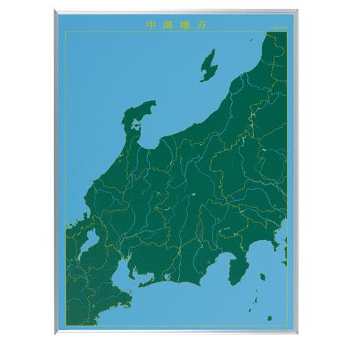 馬印 スチールグリーン 地図黒板 中部