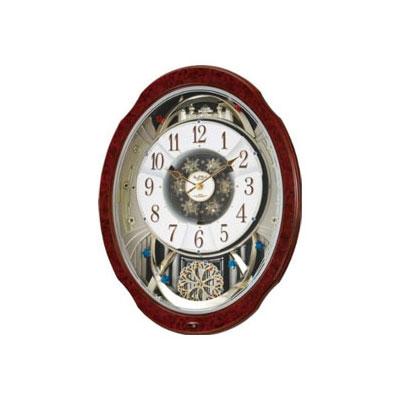 全商品ポイント2~10倍21日20時より/リズム時計 スモールワールドブルームDX(木目)