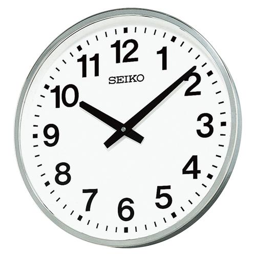 全商品2~10倍ポイント大還元セール開催中/セイコー 屋外・防雨型掛時計(シルバー)