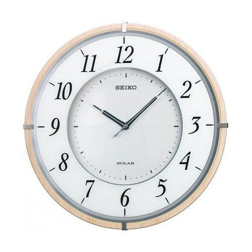全商品ポイント2~10倍21日20時より/セイコー 薄型ソーラープラス電波掛時計(ブラウン)