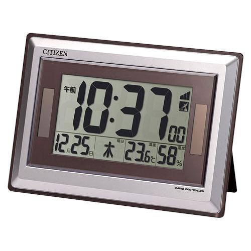シチズン 掛・置兼用時計 ソーラー電波デジタル時計