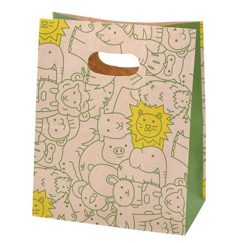 ¥5,000以上送料無料  ササガワ 角底袋 イーグリップ  取手付 パズール 50枚袋入り 180x105x225mm、穴下H165mm