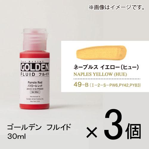 ¥5,000以上送料無料  エントリーで全商品ポイント5倍開催中/ターナー ゴールデン フルイド 30ml B色 #49 1セット(3個入) ネープルスイエロー