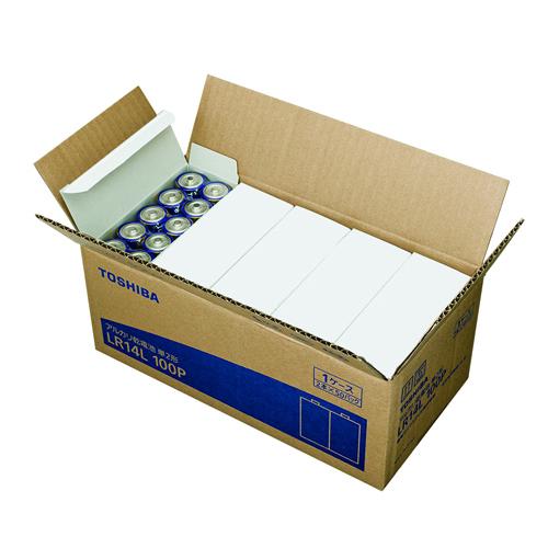 東芝 アルカリ乾電池 お買得パック 100本入り 単2形 LR14L 100P