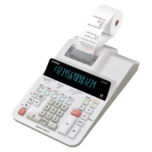 エントリーで全商品ポイント5倍 9日20時より/カシオ プリンター電卓 DR-240R-WE