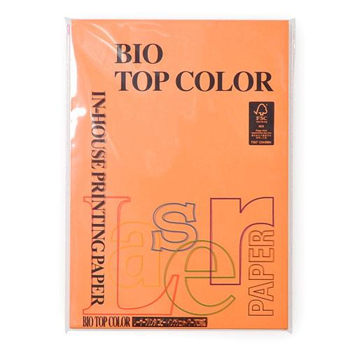 ¥5 000以上送料無料 プレゼント 伊東屋 高額売筋 バイオトップカラー A4判 オレンジ m2 100枚入 80g
