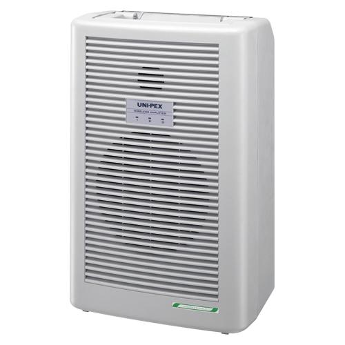 送料無料  ユニペックス ワイヤレスアンプ (300MHz帯)(ライトグレー)