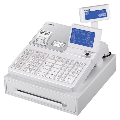 全商品2~10倍26日23時59分まで/カシオ 電子レジスター SR-S4000-20SWE(ホワイト)