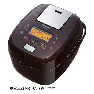 代引不可 パナソニック 可変圧力IHジャー炊飯器 おどり炊き SR-PA188-T(ブラウン)