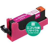 代引不可¥5,000以上送料無料  代引不可 エコリカ インクジェットカートリッジ エコリカ ECI-C326M (BCI-326M) キヤノン用 リサイクル HWER886