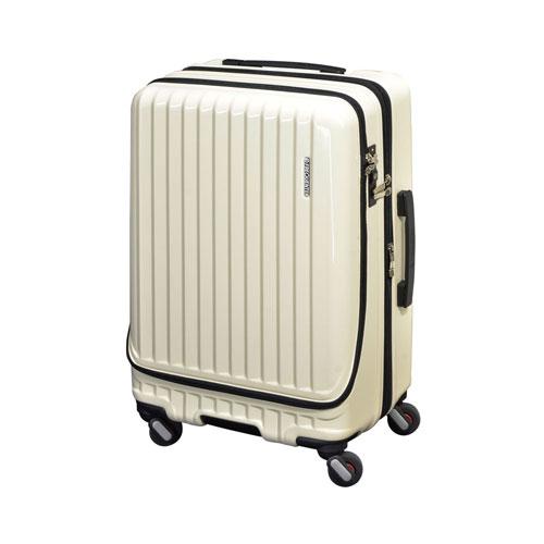 代引不可 エンドー フリークエンター キャリーケース スーツケース エンボス加工 1-281 Eアイボリー 4輪キャリーEX(Eアイボリー)