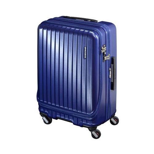 代引不可 エンドー フリークエンター キャリーケース スーツケース エンボス加工 1-281 Eネイビー 4輪キャリーEX(Eネイビー)