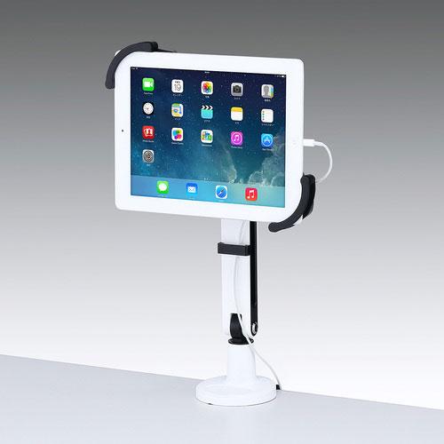 送料無料 サンワサプライ サンワサプライ直送 iPad 別倉庫からの配送 1本アーム 大注目 クランプ式 7~11インチ対応 タブレット用アーム