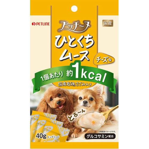 ¥5,000以上送料無料  ペットライン プッチーヌ ひとくちムース国産若鶏ささみ入りチーズ味40g ペット用品 フード