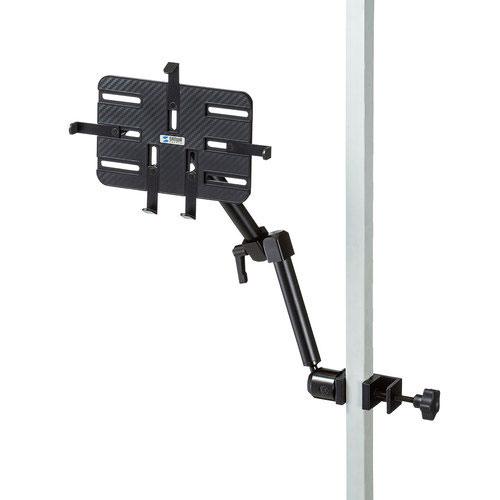 送料無料 サンワサプライ 新色追加 サンワサプライ直送 3関節 春の新作 支柱取り付け用タブレットホルダー