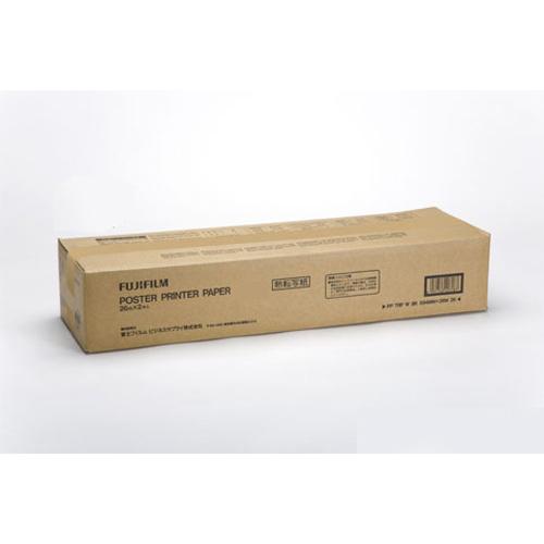 富士フイルム ポスタープリンター用紙 熱転白地青発色A1幅 サイズ:幅594mm×長26m(白/青)