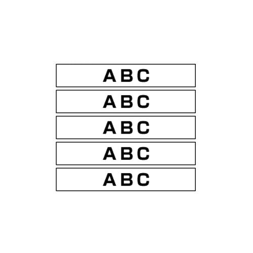 ブラザー ピータッチ用テープカートリッジ HGeテープ ラミネートテープ 8m 5巻入 36mm幅(白 黒文字)