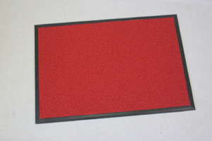 クラウン フロアマット クッション付・塩ビ製 外寸:横1800×縦900mm(赤)