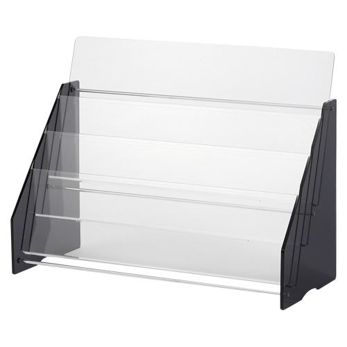 クラウン パンフレット台 アクリル製 規格:A4判2列3段