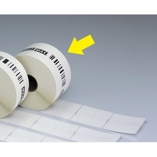 マックス ラベルプリンタ専用ラベル 通常・連続発行用ラベル(50巻入) ラベルサイズ:幅52×ピッチ50mm