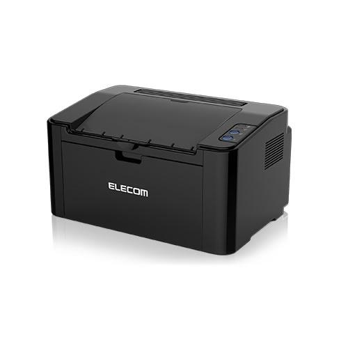 エレコム モノクロレーザープリンター スマホ・タブレット対応 WiFi接続(ブラック)