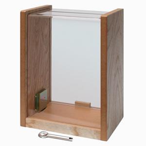 コレクト 窓口ボックス 木・透明アクリル製 中