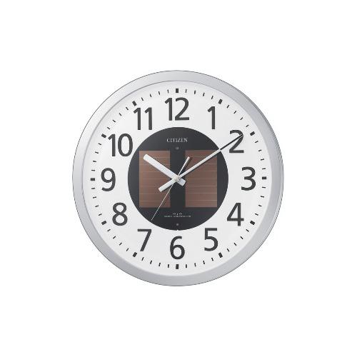 祝10周年 全商品ポイント5倍セール開催中/リズム時計 電波掛時計 エコライフM815(シルバーメタリック)