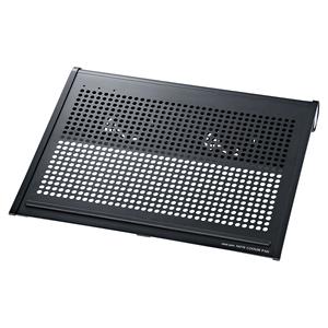 サンワサプライ ノート用クーラーパッド サイズ:W400×D320×H52mm(ブラック)